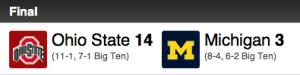 We totally won. Go Buckeyes.