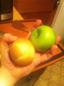 Apple? Check. Onion? Check.