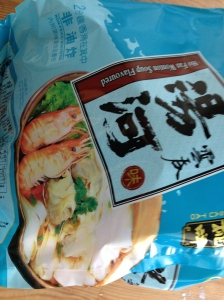 This pack suggests dumplings, prawns, and more. You can barely even see the noodles in the serving suggestion picture.